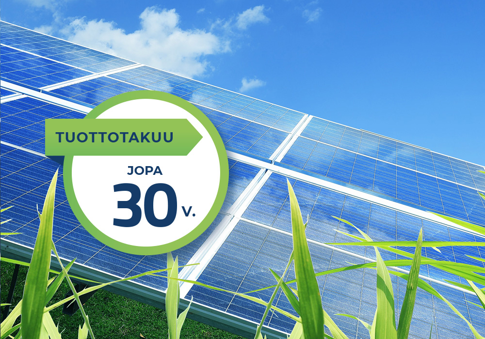 Aurinkopaneelien tuottotakuu jopa 30 vuotta